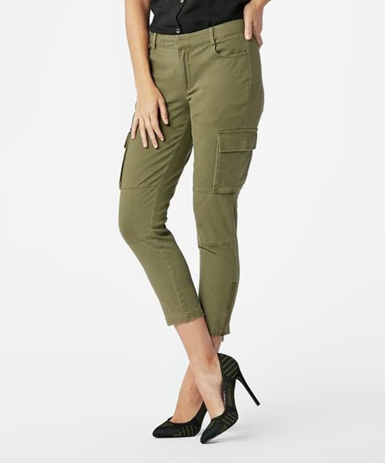 987c5f1358 ... Womens Dark Olive Dark Olive Cargo Pants - Alternate Image 3 ...