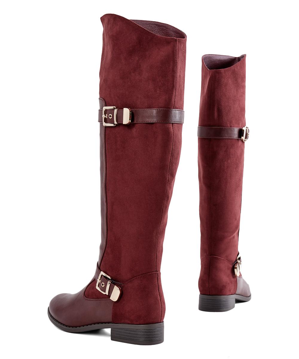 d36674c4d00 Womens burgundy mieko wide calf boot alternate image jpg 1000x1201 Justfab  wide calf boots