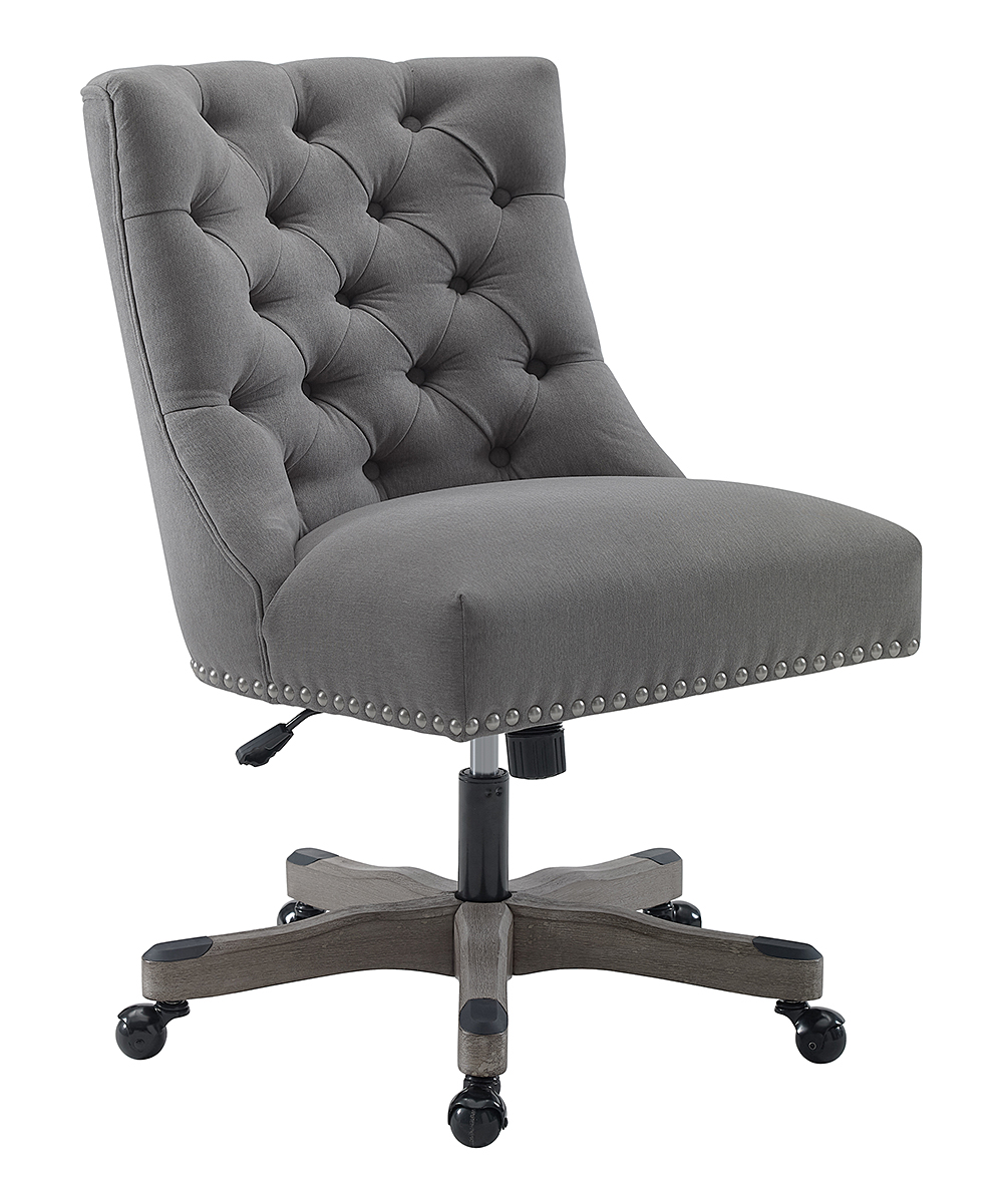 803ca1c7dc1 Linon Home Della Light Gray Office Chair