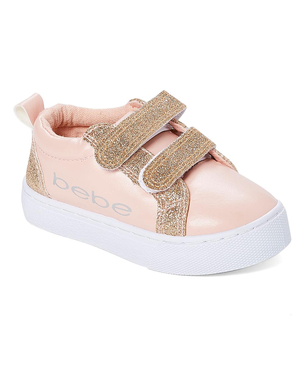 26c71511ad46 bebe girls Blush   Rose Gold Glitter-Accent Sneaker - Girls
