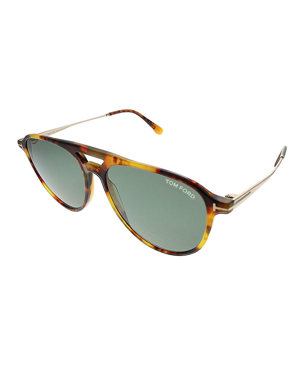 All gone orange modified aviator sunglasses