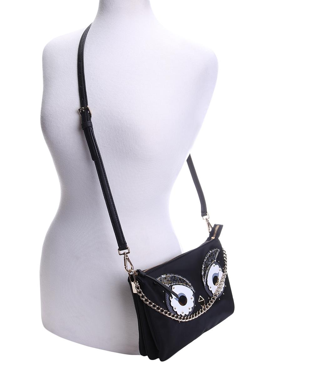 789ff4200f49 Kate Spade Black Owl Madelyn Starbright Crossbody Bag