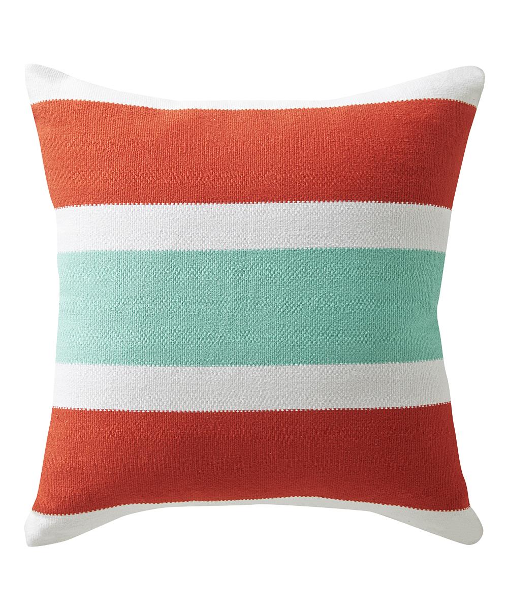 Selamat Designs Red Stripe Santorini Throw Pillow  0b15776f19