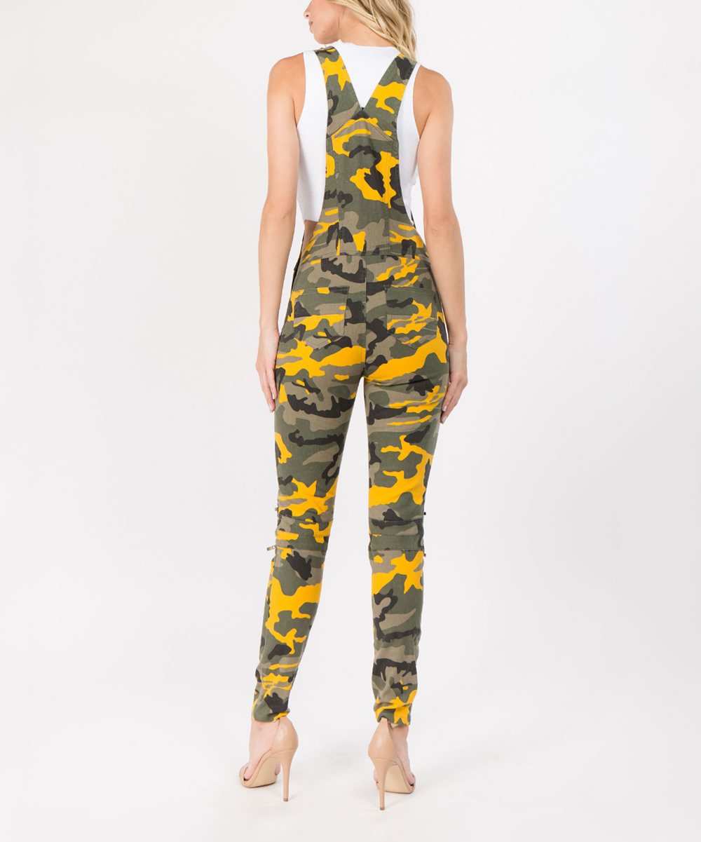 56a9862a95d love this product Yellow Camouflage Overalls - Women