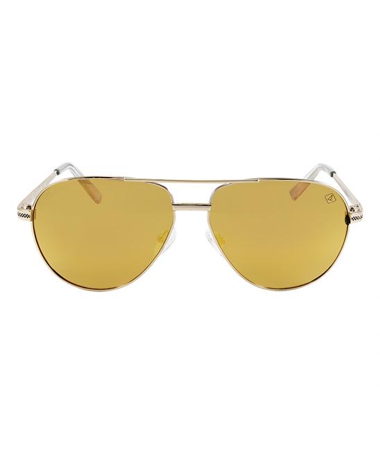 c4bf74444dbc0 Sperry Gold Mirror Billingsgate Polarized Aviator Sunglasses