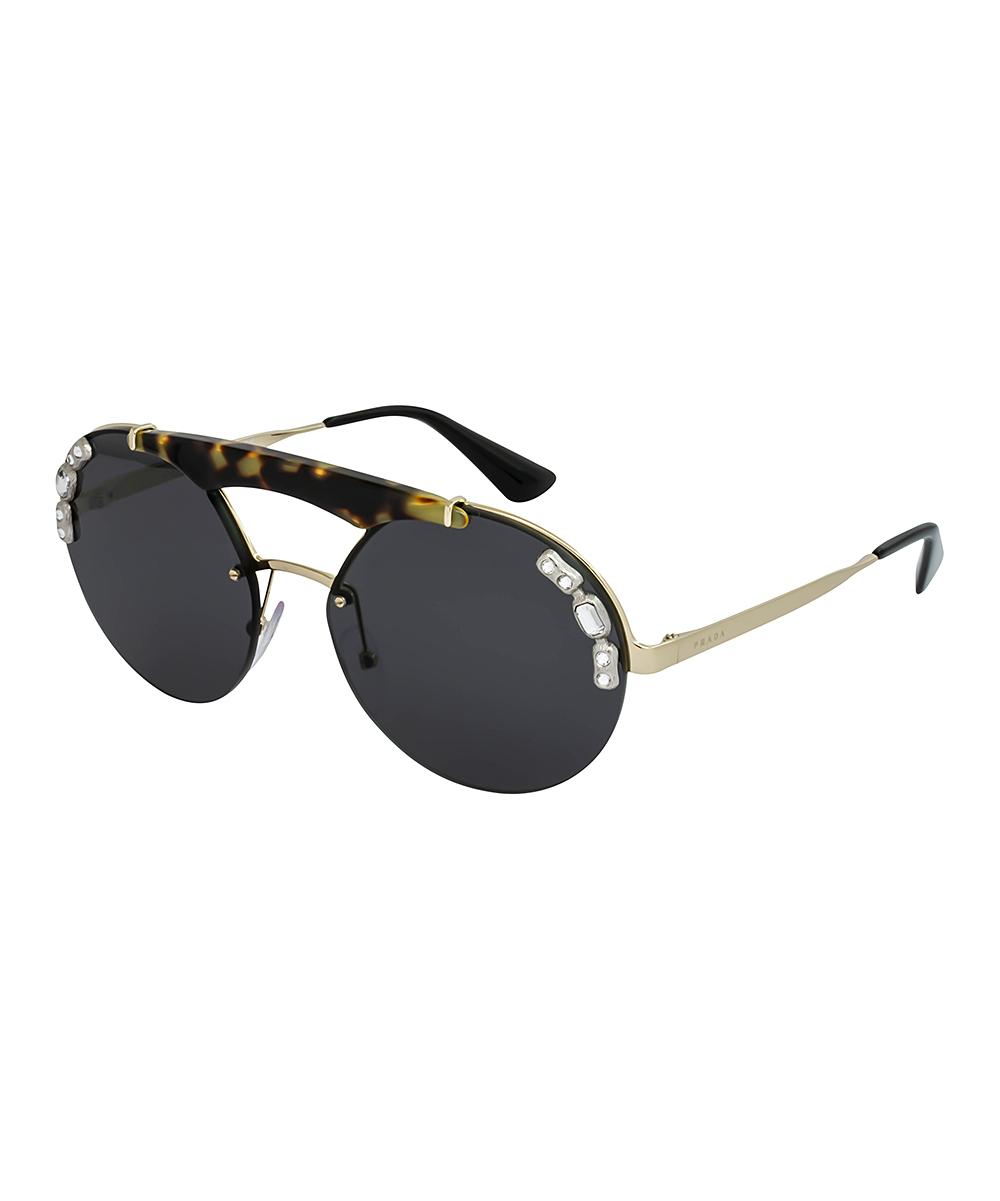 7093b8c7b8 Browline amp  Embellished Gold Prada Sunglasses Zulily Gray Dark n5zXxqA