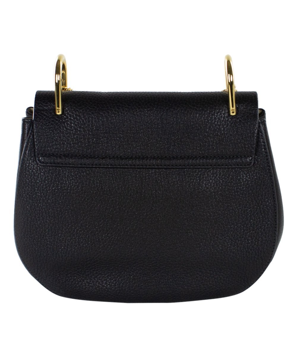 50a39181cb Chloé Black Chain-Strap Leather Shoulder Bag