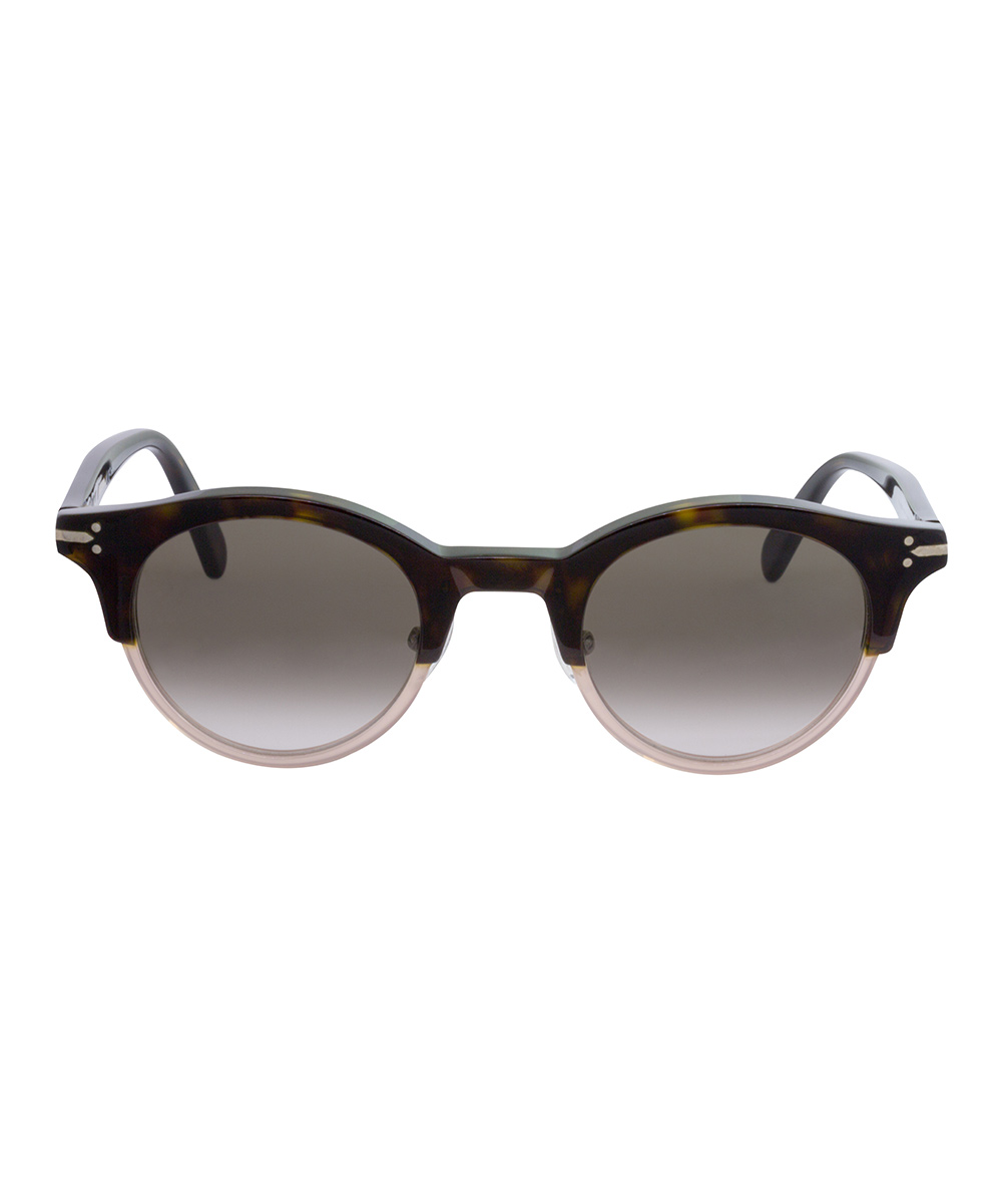 9faf6074a26 ... Womens Dark Havana Brown Dark Havana Brown Browline Sunglasses -  Alternate Image 2