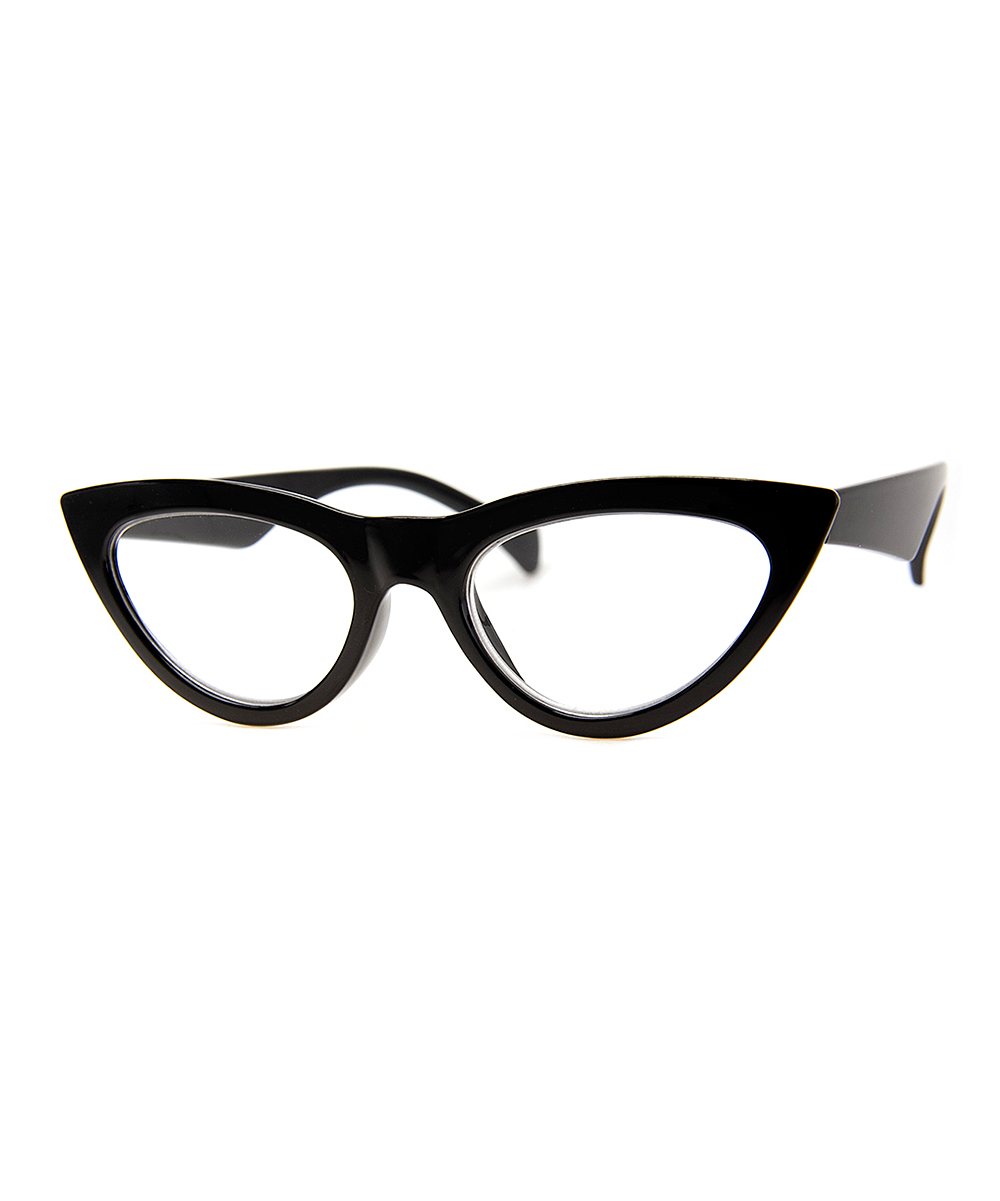 A.J. Morgan Women's Reading Glasses S.BLACK - Black Sling Cat-Eye Readers