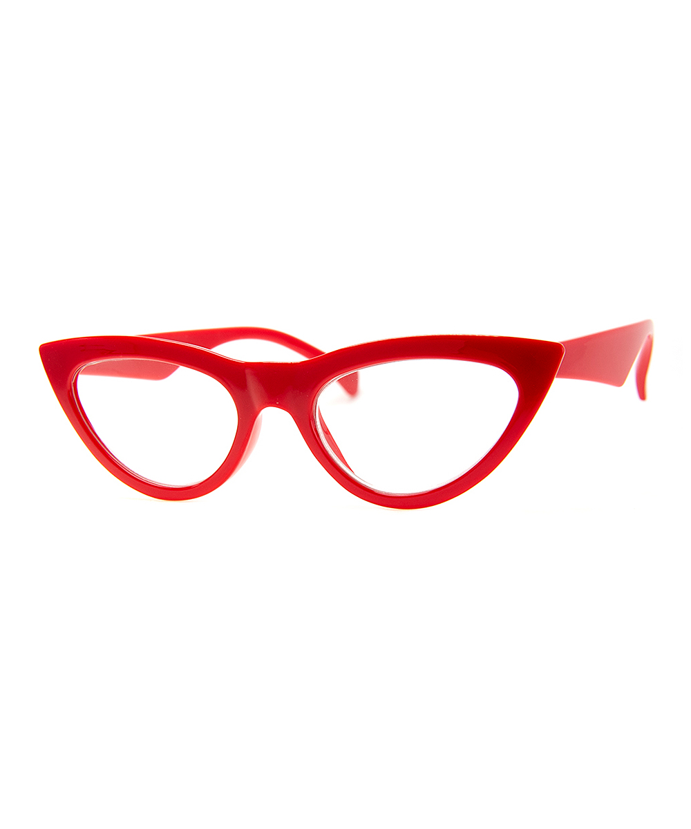 A.J. Morgan Women's Reading Glasses S.RED - Red Cat-Eye Readers