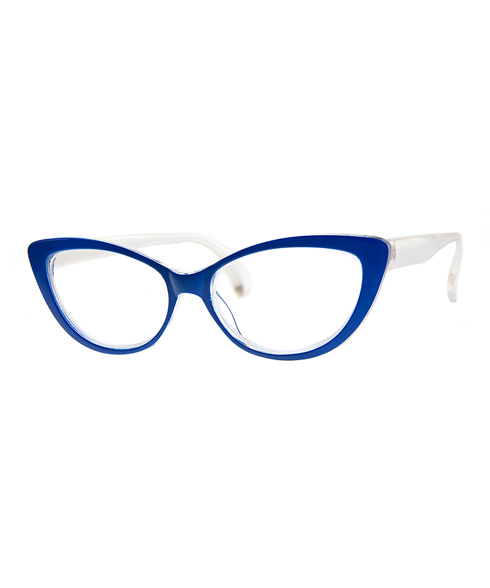 A.J. Morgan Women's Reading Glasses BLUE - Blue & White Sweet Sixteen Cat-Eye Readers