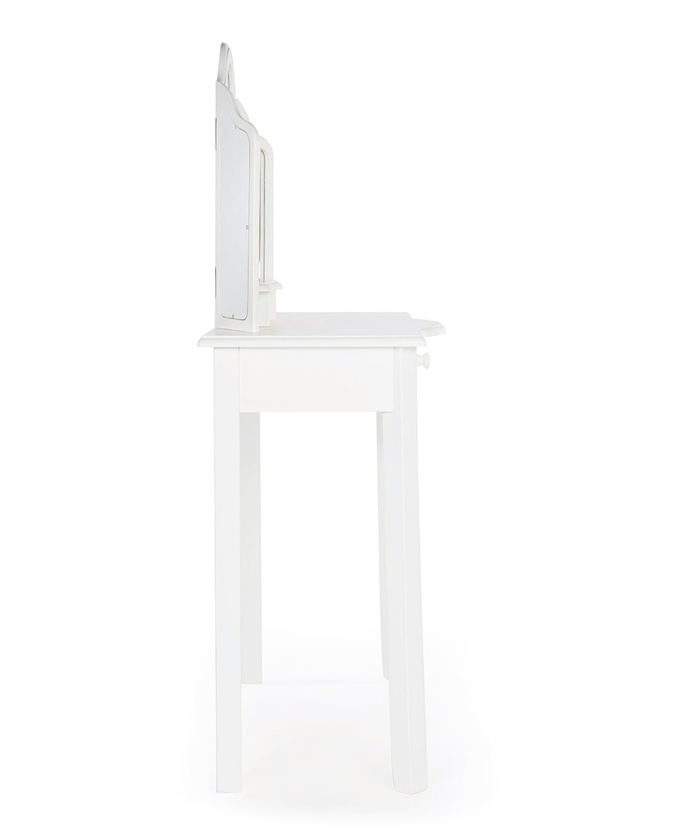Guidecraft White Classic Vanity Stool Zulily