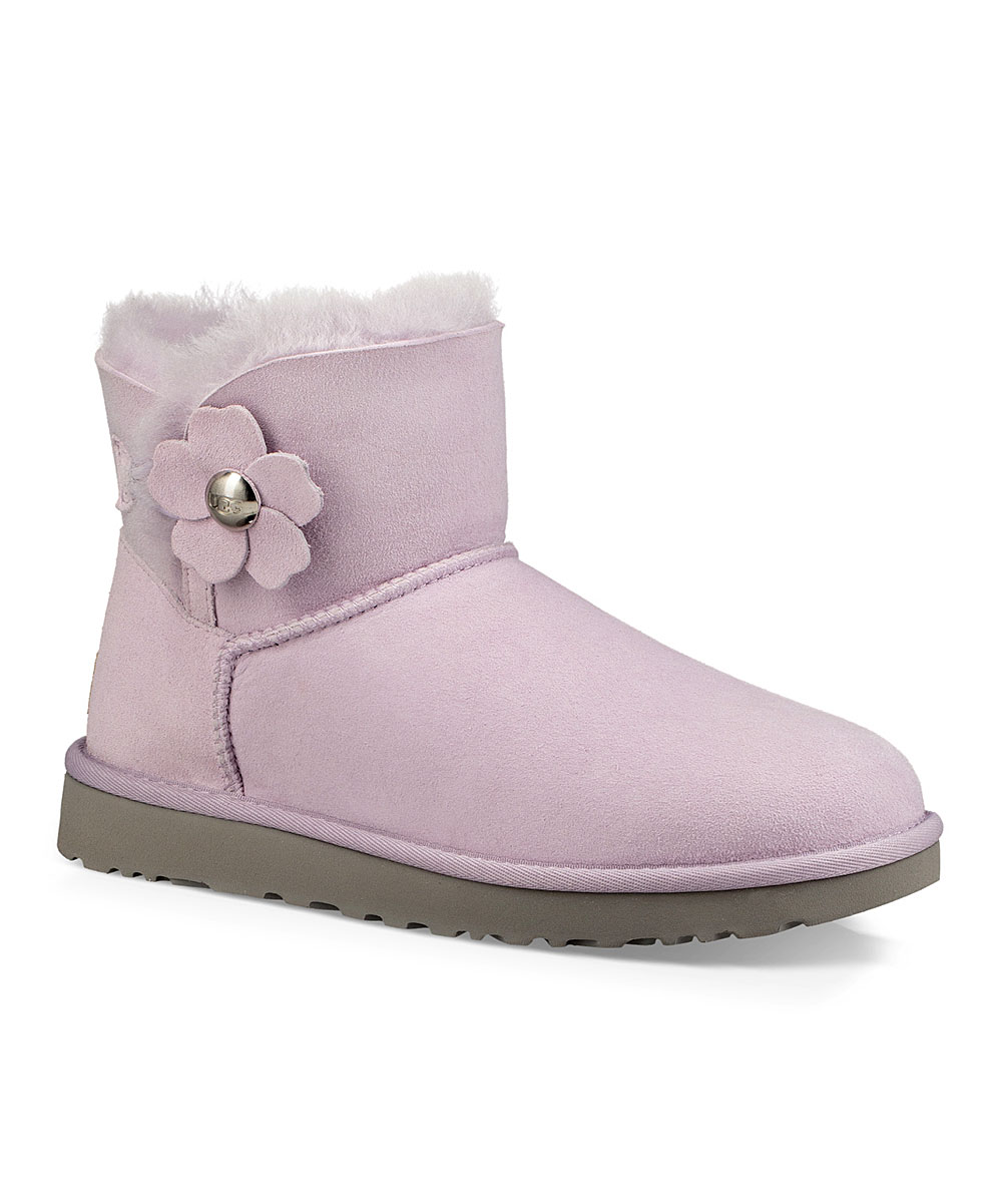 8b9d2774643 UGG® Lavender Fog Mini Bailey Button Poppy Suede Boot - Women