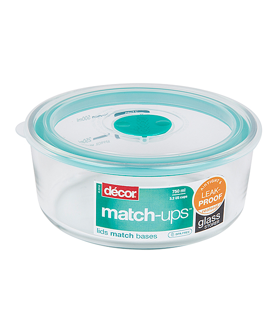 Teal Decor Match Ups Realseal Round 3 2 Cup Glass Container Zulily