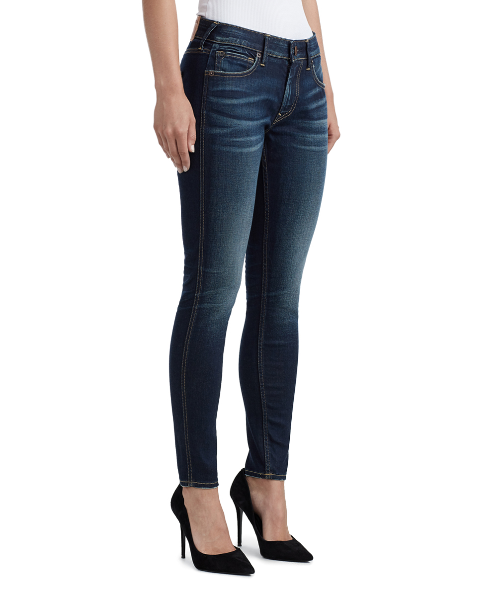 59e1f58ba ... Womens FHTM OLD SCHOOL NAVY Old School Navy Mid-Rise Jennie Curvy  Perfect Skinny Jeans