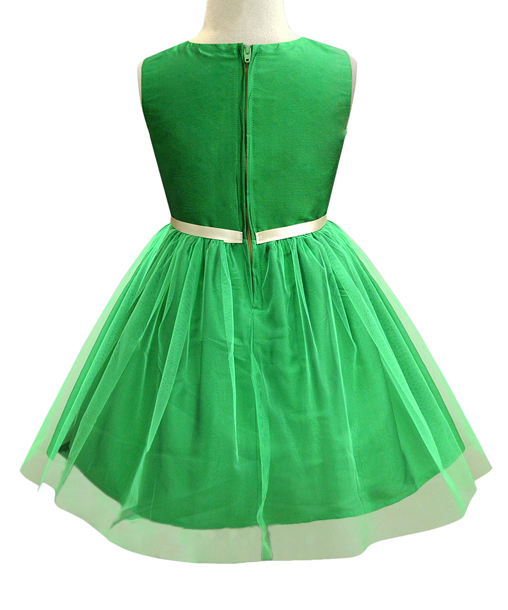Girls Green Tulle Dress