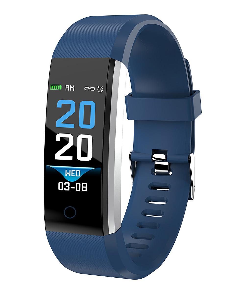 iMounTEK  Smart Watches Dark - Dark Blue Heart Rate Bluetooth Fitness Tracker