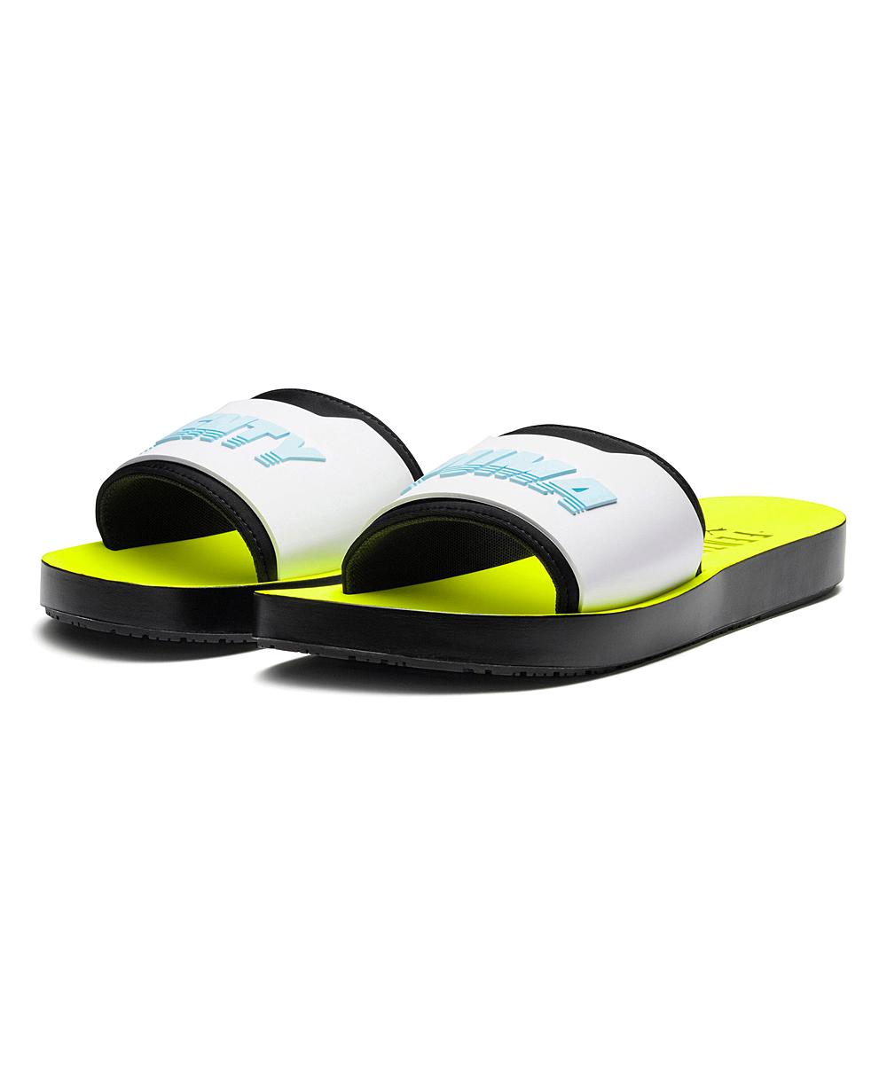 fbcd0b79cae52 Fenty PUMA by Rihanna Safety Yellow & White Fenty Surf Slide - Women