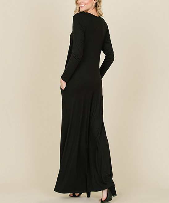 b57a671a5e9 love this product Black Pocket Tie-Neck Wide-Leg Jumpsuit - Women