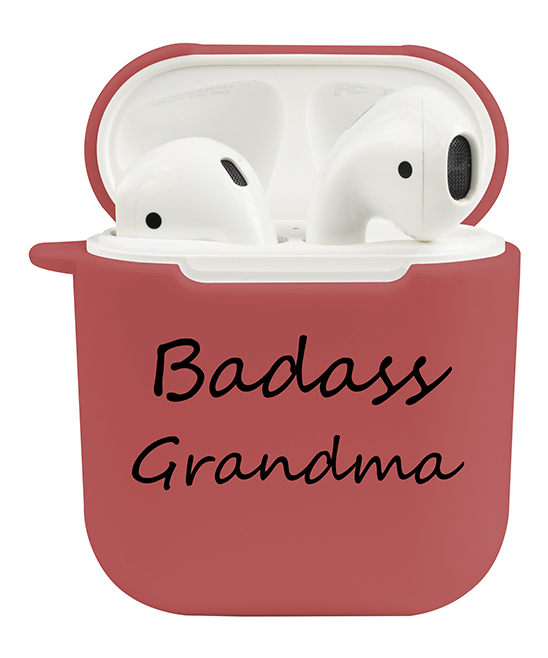 'Badass Grandma' AirPod Case 'Badass Grandma' AirPod Case. Keep your earbuds safe and sound with this case that establishes your personality each time you pull them from your bag.Full graphic text: Badass grandma.TPUImported