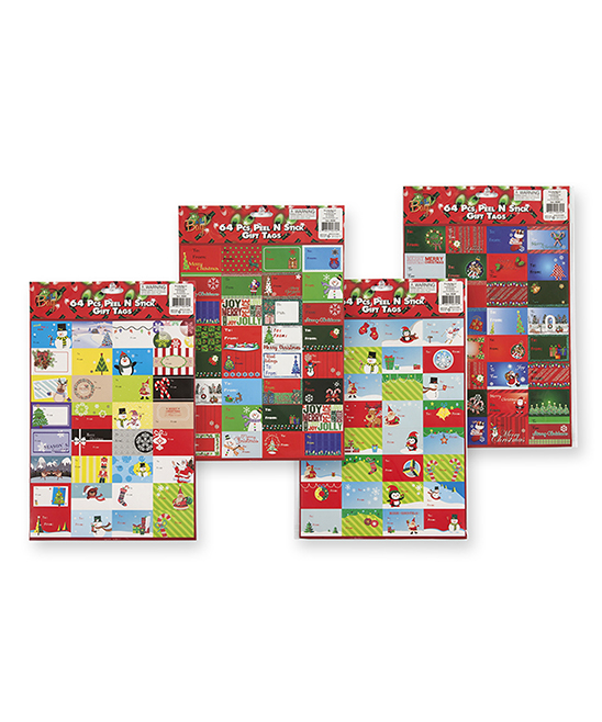It's in the Bag  Labels  - Peel & Stick Gift Tags - Set of 12 Peel & Stick Gift Tags - Set of 12. Ensure your gift wrapping is as special as the treasures inside with this assortment of jolly peel-and-stick gift tags. Includes 60 peel and stick gift tags totalPaperImported
