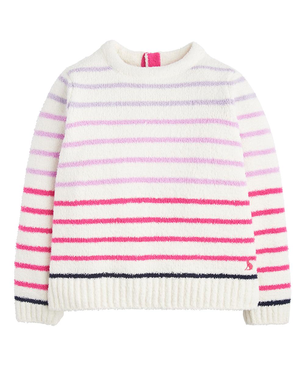 ed752f87b Joules Cream Stripe Knit Chenille Sweater - Toddler