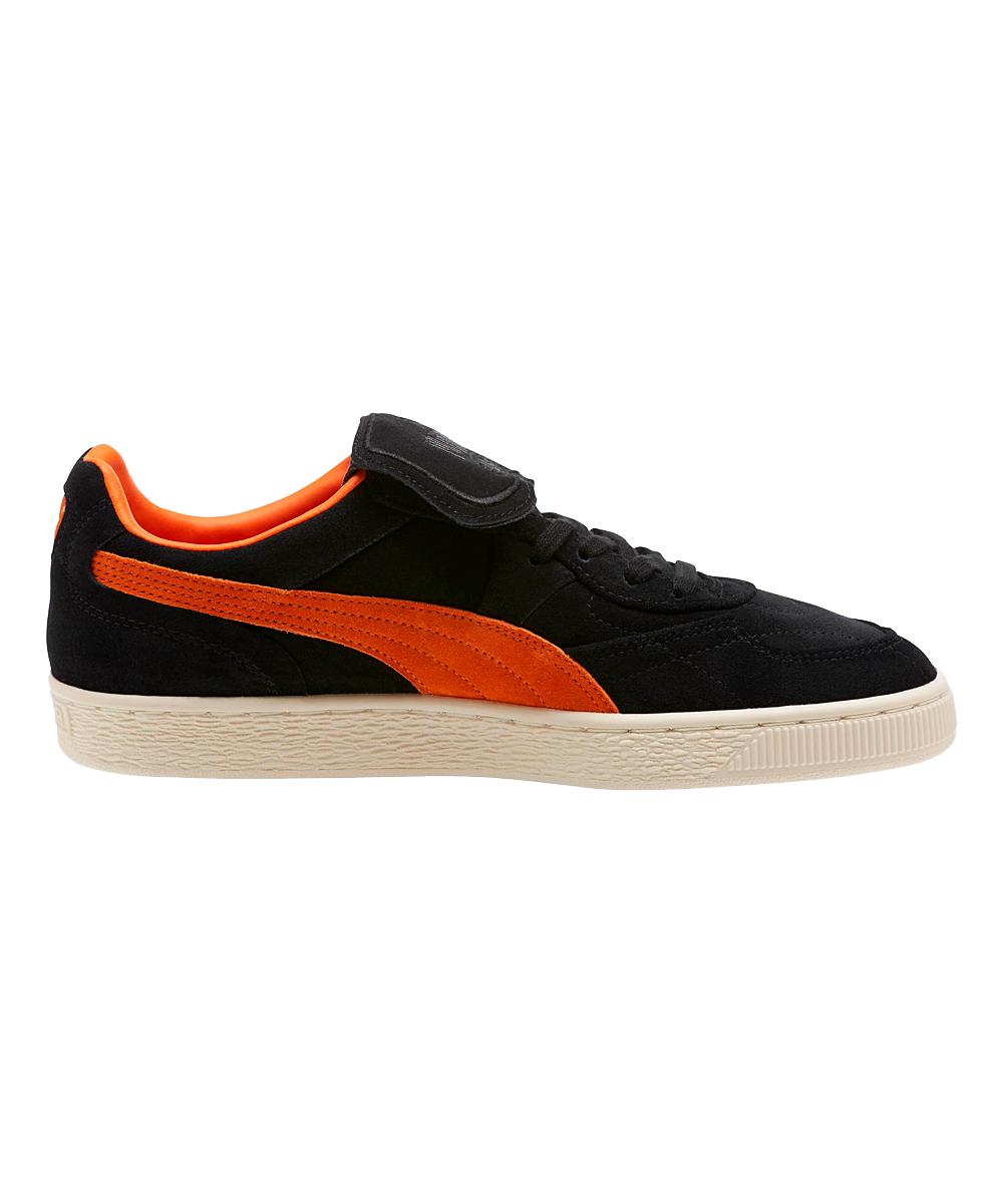 b34eff16c8a8 ... Mens Puma Black-Vibrant Orange-Whisper White Black   Vibrant Orange King  Suede Legends ...