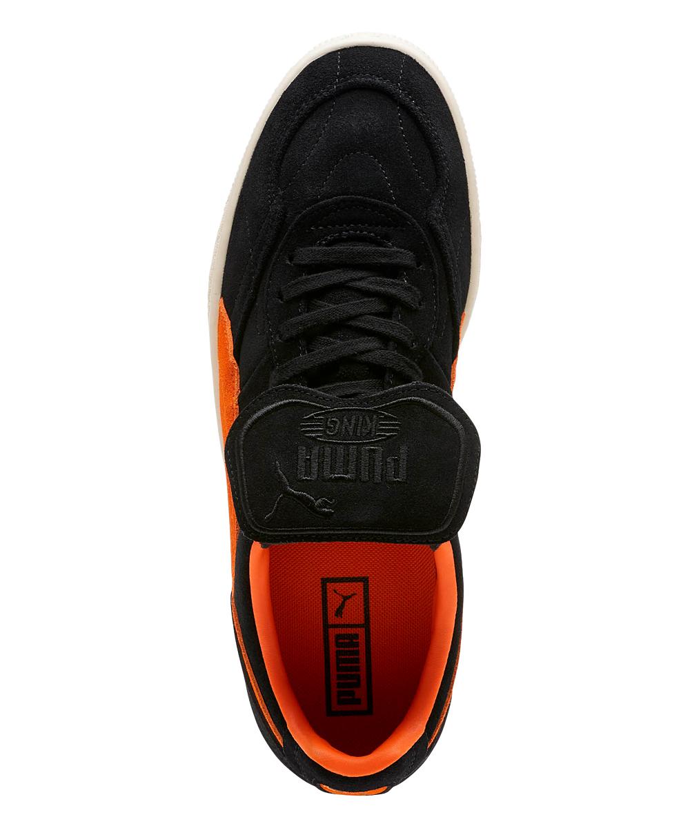 bf8dc10070a6 ... Mens Puma Black-Vibrant Orange-Whisper White Black   Vibrant Orange King  Suede Legends
