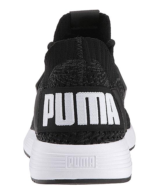 d3a5d825b4b2 ... Boys Puma Black-Iron Gate-Puma White Black   White Uprise Knit Jr  Sneaker ...