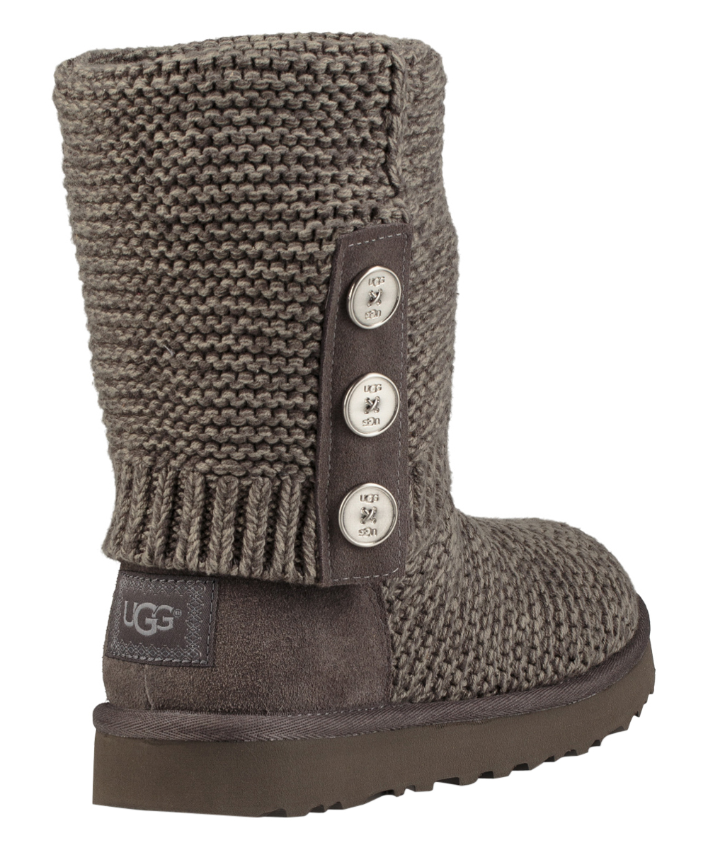 0027ce09f1c UGG® Charcoal Cardy Purl Knit Boot - Women