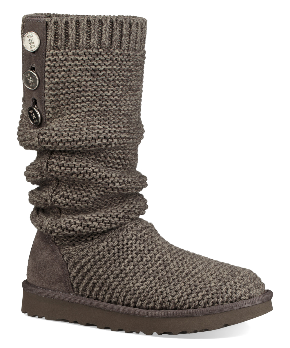 08ad03b8369 UGG® Charcoal Cardy Purl Knit Boot - Women