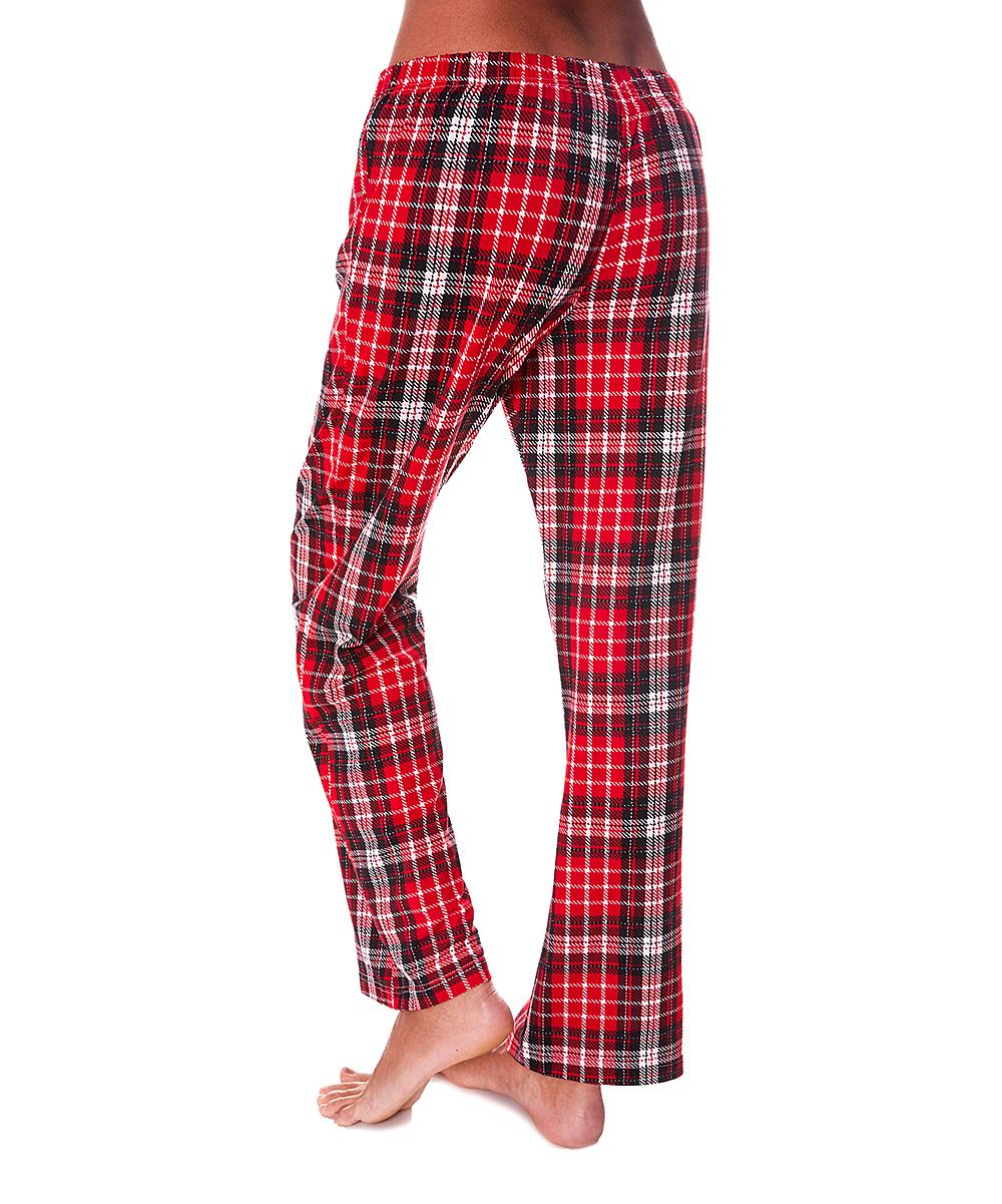 kathy ireland Red Plaid Pajama Pants - Women  2c8dc0e7c