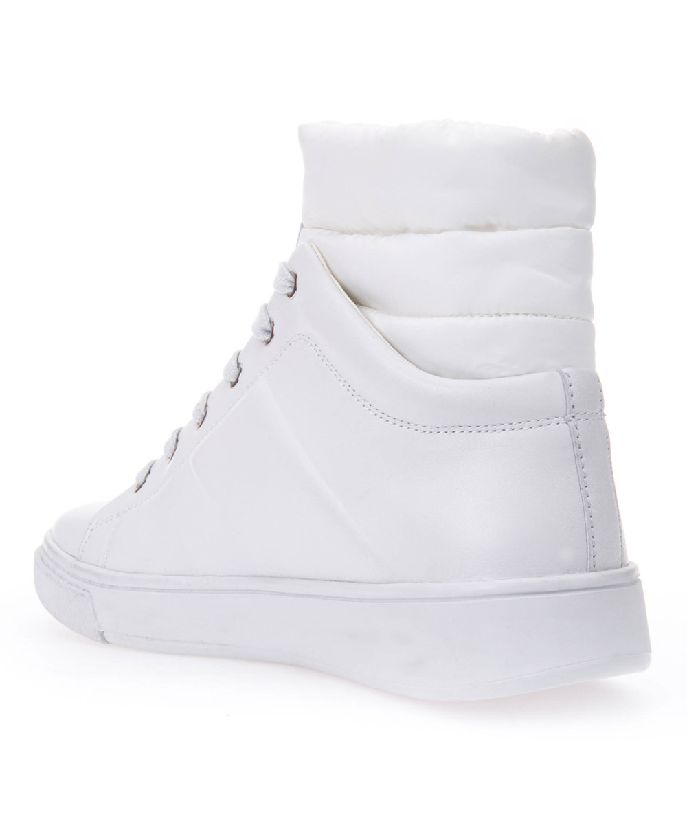 7e13a982d34 ... Womens WHITE White Mayrah Leather Hi-Top Sneaker - Alternate Image 3 ...