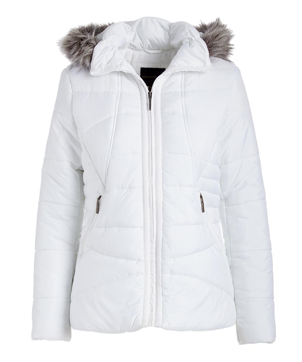 9feae9170 Weatherproof White Faux Fur-Lined Hooded Puffer Jacket - Women