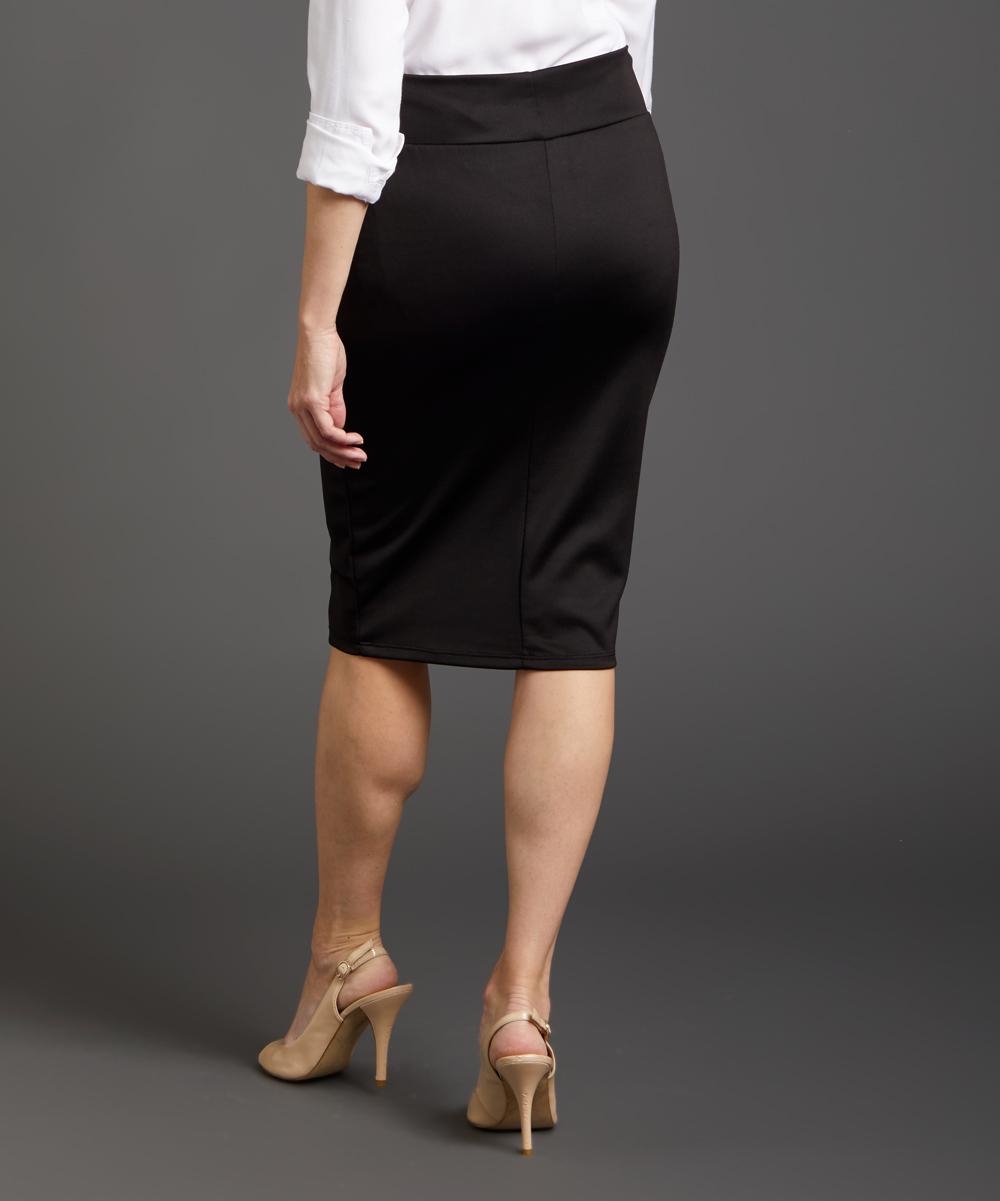 c8018a5ddd love this product Black Scuba Knit Pencil Skirt - Plus