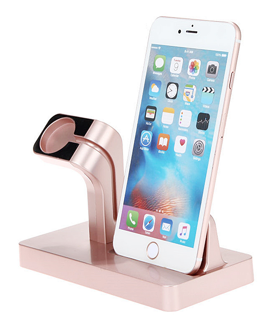 Rose Gold iPhone & Apple Watch Charging Dock