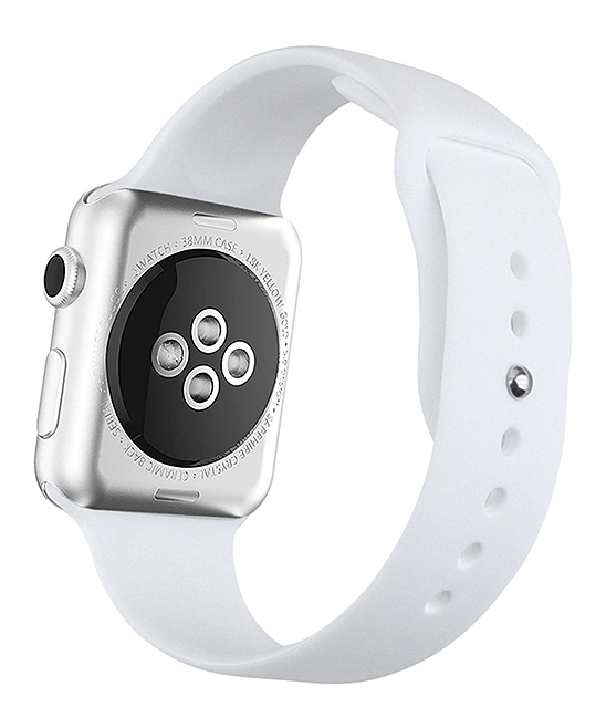QRTZ Women's Watches white - White Silicone Band for Apple Watch