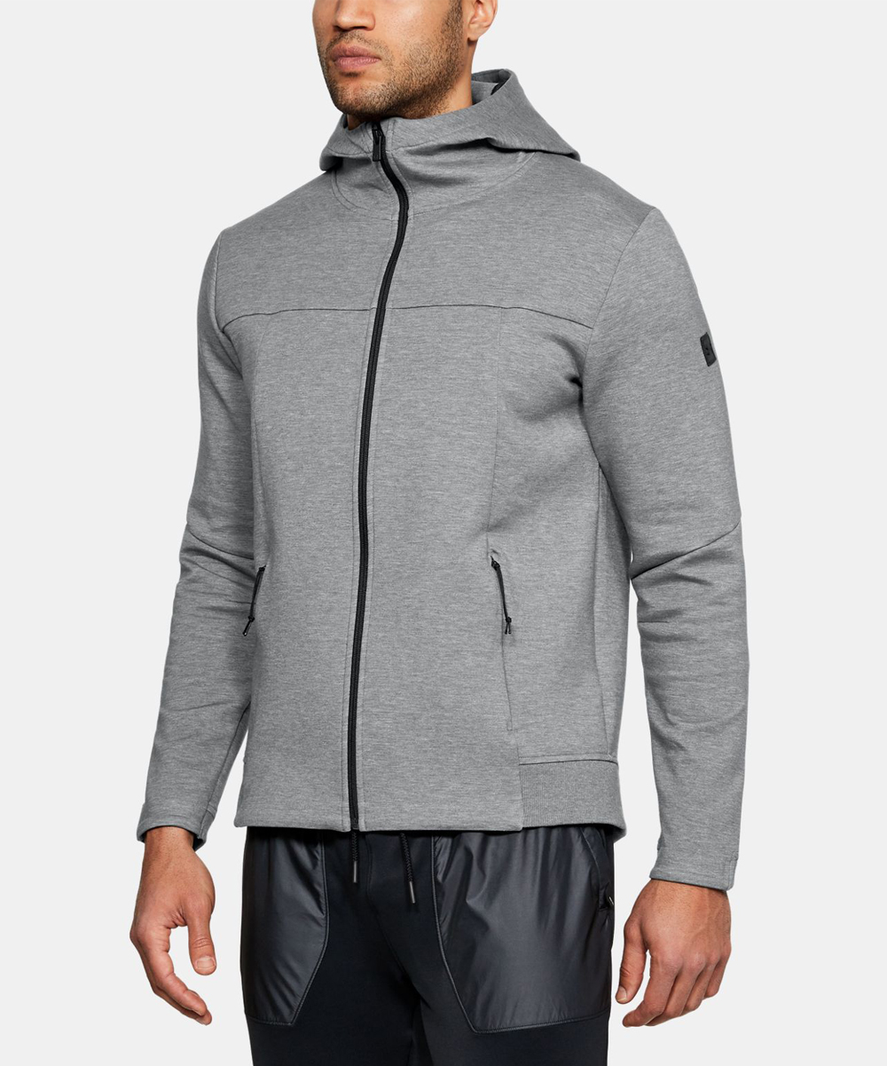 e91af4bd1 Under Armour® Steel Full Heather Sportstyle Elite Utility Zip-Up ...