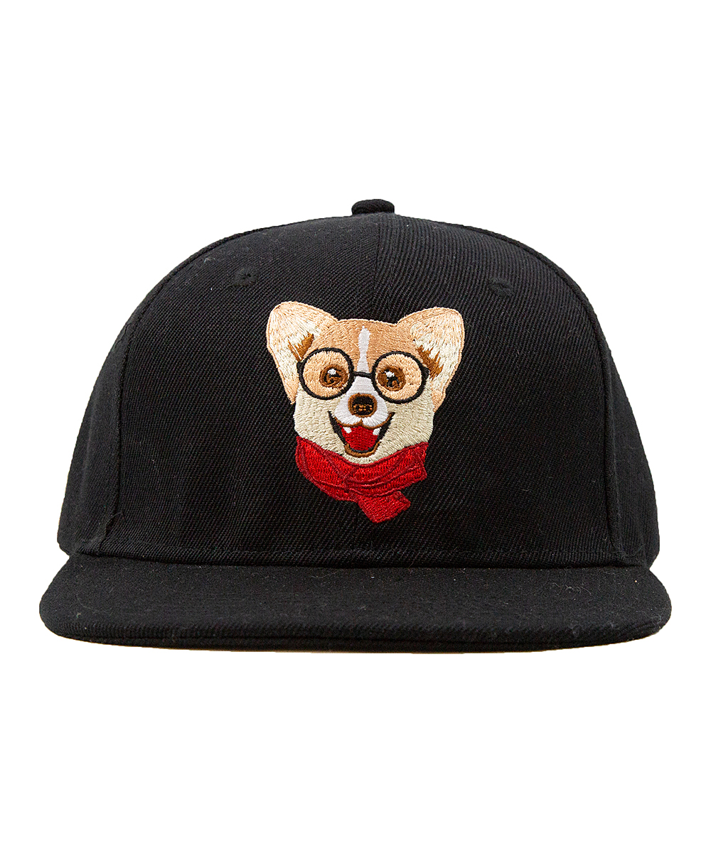 Nayo the Corgi Black Nayo Corgi Embroidered Baseball Cap  6c89c364cd4