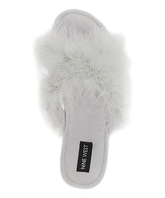 cf2f178e0d78 ... Womens SKYSCRAPER White Cloud Fuzzy Crisscross Slipper - Alternate  Image 3 ...