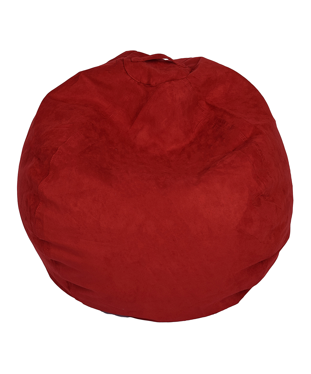 Red Large Micro Suede Bean Bag Chair