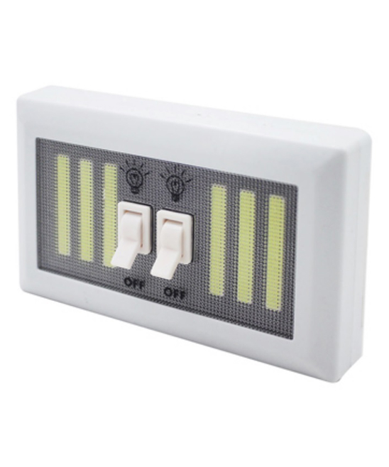 White Dual-Switch LED Light