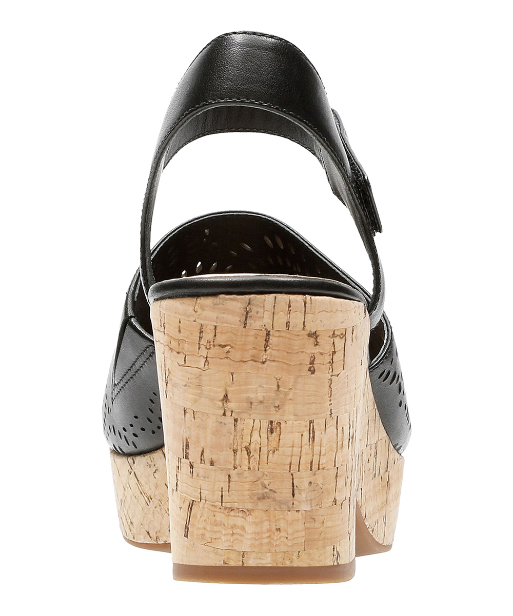 a5620b11dd60 ... Womens Black Leather Black Maritsa Nila Leather Sandal - Alternate  Image 4 ...