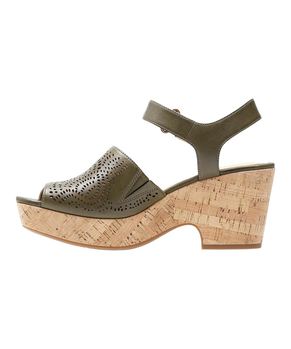 bdfebf0c8d5 ... Womens Khaki Leather Khaki Maritsa Nila Leather Sandal - Alternate  Image 3 ...
