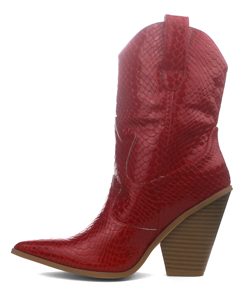 124e9bf6db0 Cape Robbin Collection Red Fever Cowboy Boot - Women