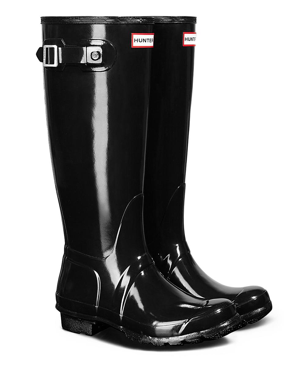 6ae4cf05120 Hunter Hunter Original Tall Gloss Black Rain Boot - Women