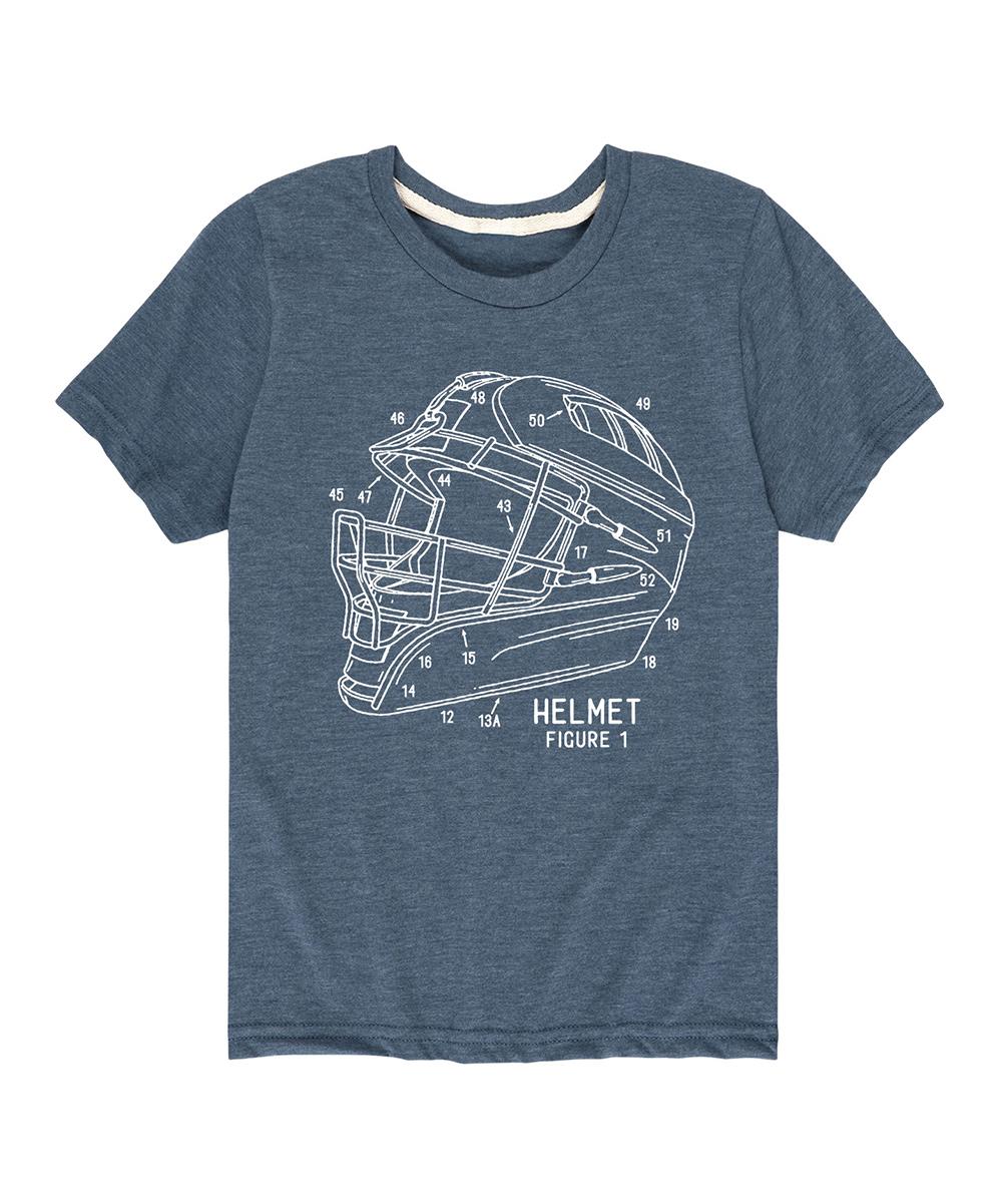 Instant Message  Tee Shirts HEATHER - Heather Blue Hockey Helmet Tee - Kids