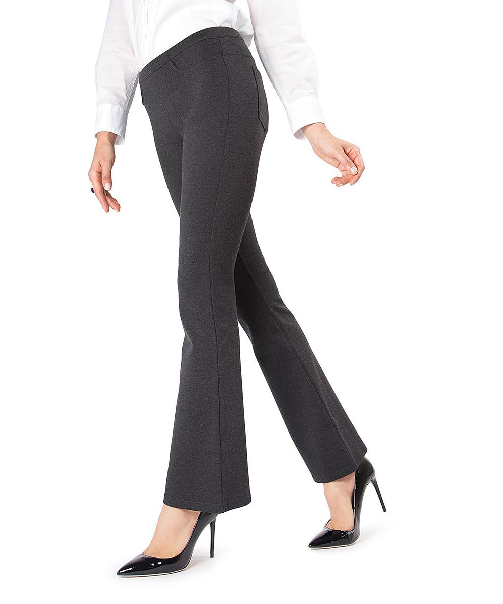 cff614f893 MeMoi Dark Gray Ponté Bootcut Leggings - Women