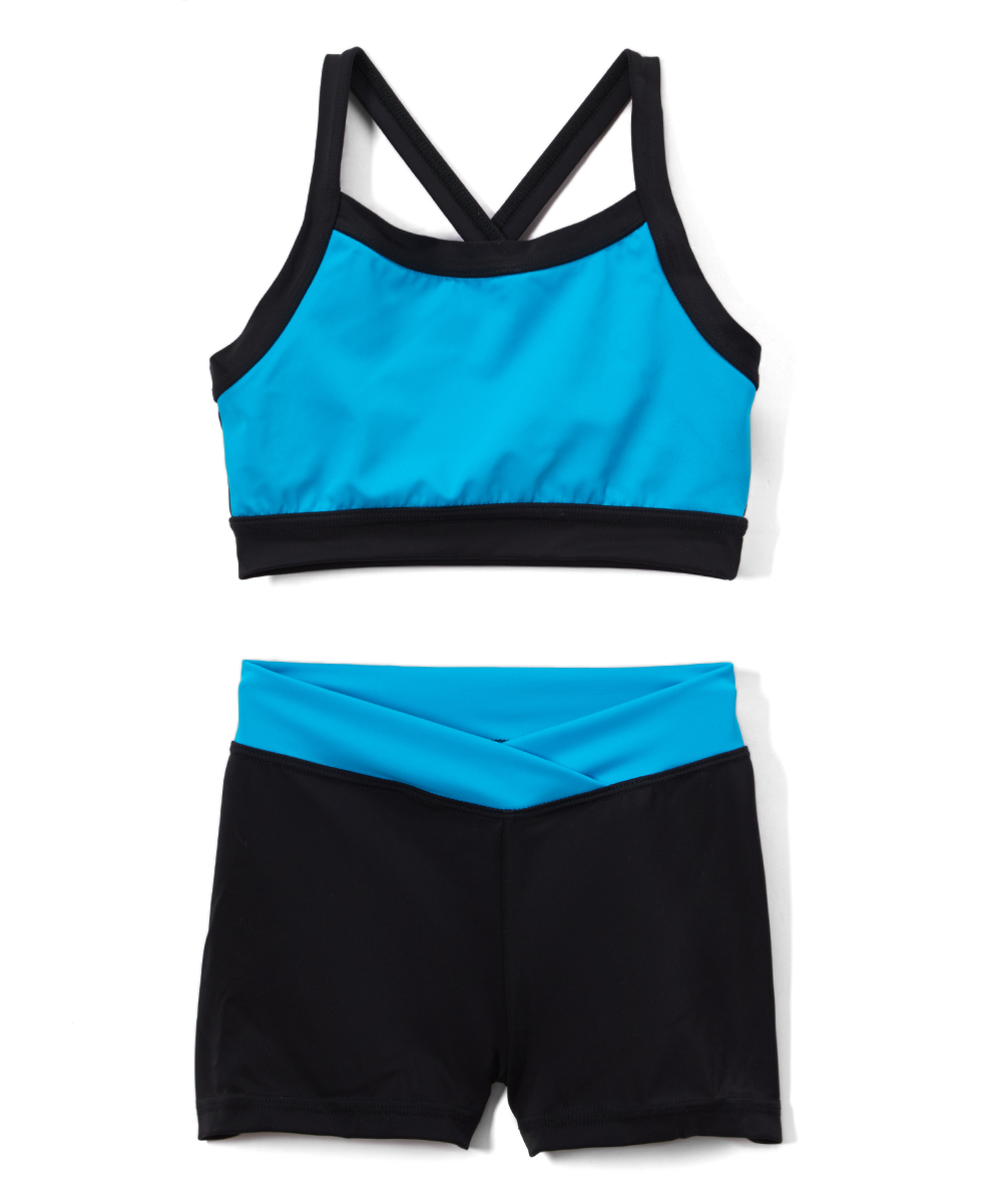 b9d3eca404d736 Niva-Miche Clothes Turquoise   Black Crop Top   Crossover Shorts ...