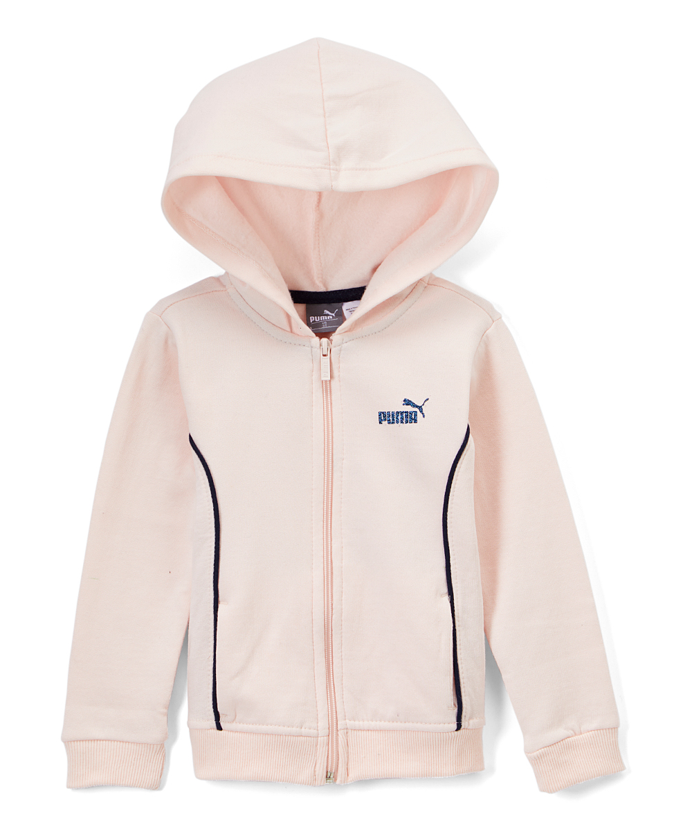wholesale dealer 223b5 48ad8 PUMA Light Pink Puma Fleece Zip-Up Hoodie - Toddler   Zulily